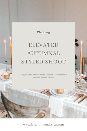 Elevated Autumnal Styled Shoot