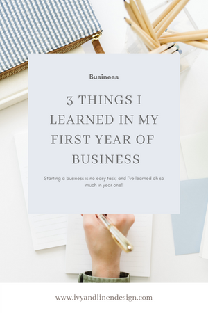 Three things I learned in my first year of business blog post