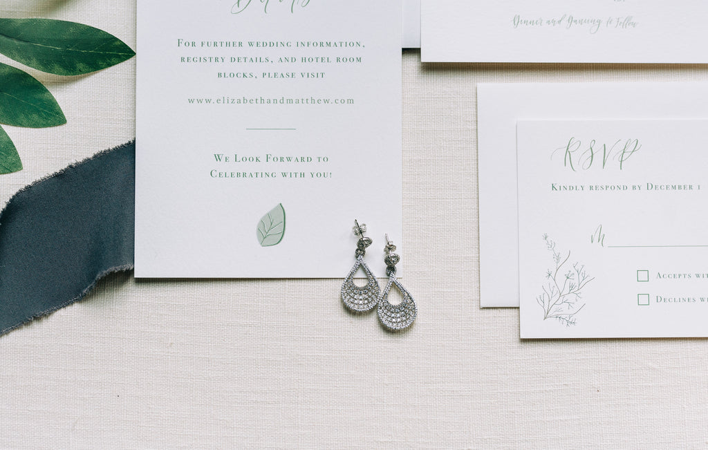 Rustic boho wedding invitation suite for styled shoot at Old Homestead Farm in Rocky Point, NC. Details card, wax seals, florals, eucalyptus. Photo by Chelsea Allegra Photography.