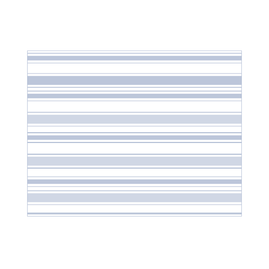Blue striped folded greeting cards on #120 Linen cardstock