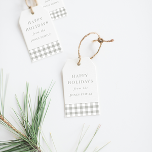 Gingham Gift Tags (Set of 24)