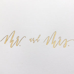 Mr. and Mrs. Card - Gold Foil