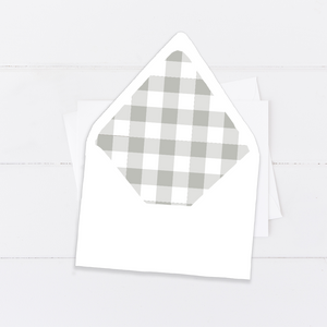 Gingham Envelope Liner