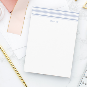 Blue Stripe Notes 5x7 notepad for all of your notes to keep track of throughout the day