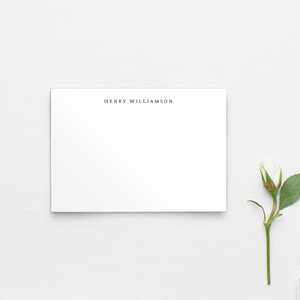 Plain Name Notecards