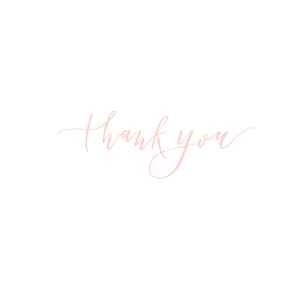 Thank You Card - Pink