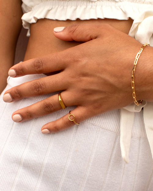 GOLD FILLED VERA RING