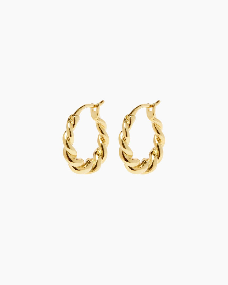 XENIA GOLD HOOPS