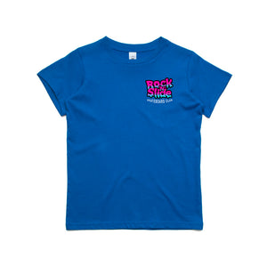 Kids RockNSlide Skateboard Club Bubble Gum Tee| Blue
