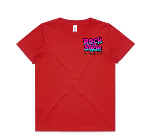 Adults RockNSlide Skateboard Club Bubble Gum Tee| Red