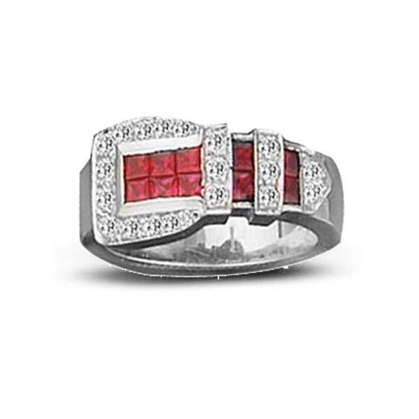 Buckle Ring with Red
