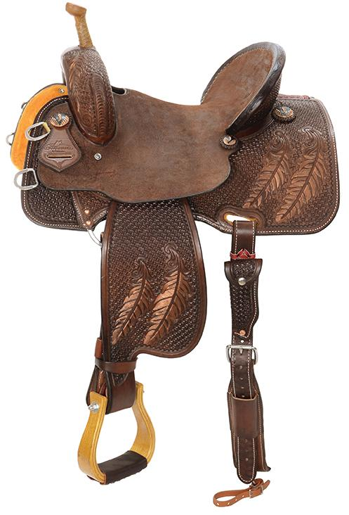 """Fine Feathers"" Team Camarillo Saddle"