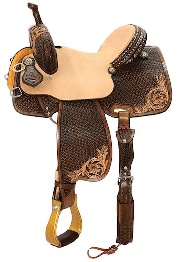 """Chocolate Swirl"" Team Camarillo Saddle by Reinsman"