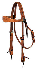 Headstall, Shaped Browband, Harness Leather 7110