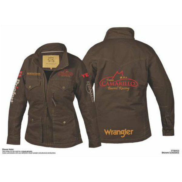 Jacket, Brown, Team Logo