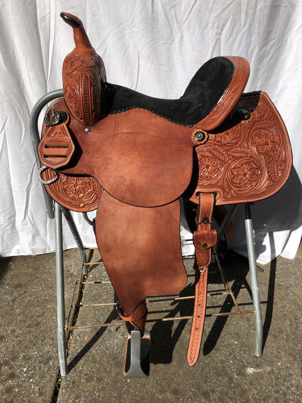 """Black Magic"" BRX Sharon Camarillo Saddle by Reinsman"