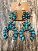 Earrings with Turquoise and Rope