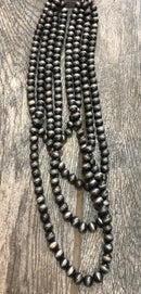 Necklace, Multi-Strand Pewter Beads