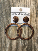 Earrings, Copper Hoops