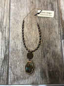 Necklace, Copper Penny and Chrysocolla