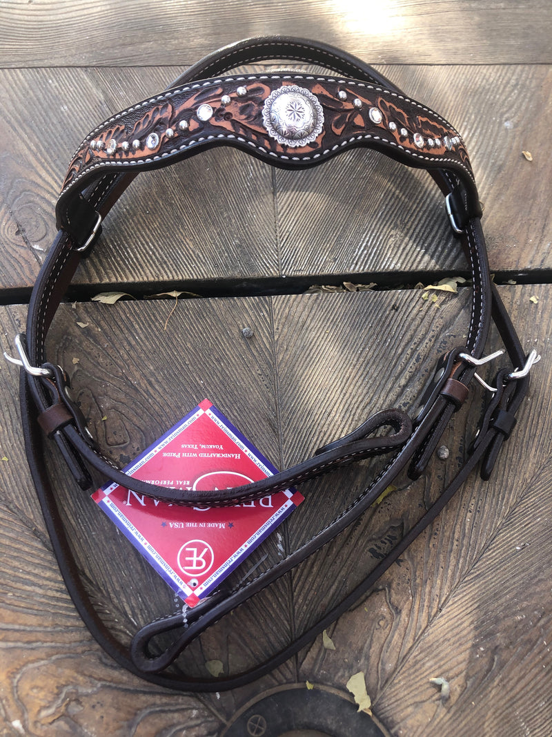 Headstall, Acorn with Conchos