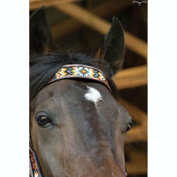 Headstall, Beaded Tribal