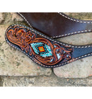 Ladies Spur Strap, Beaded Tribal