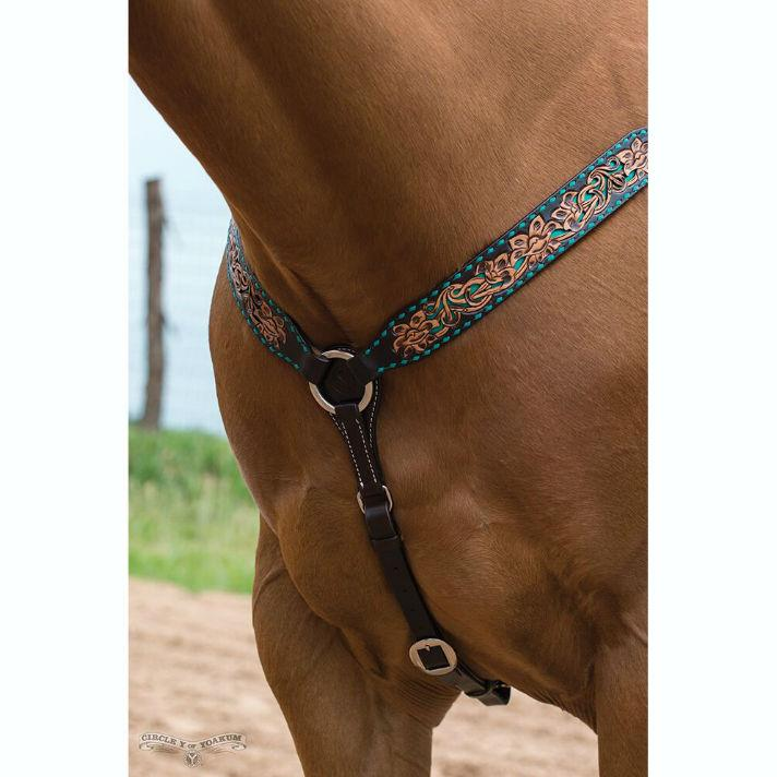 Breast Collar, Turquoise Buck
