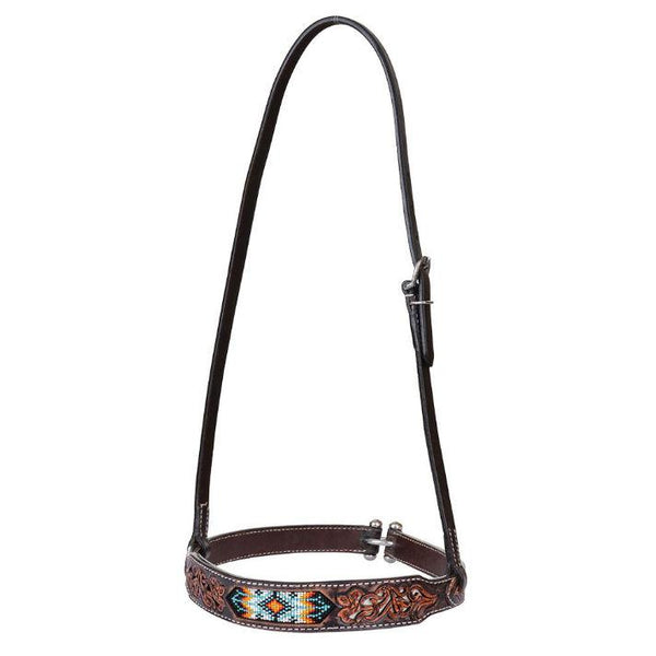 Noseband, Beaded Tribal Distressed Filigree