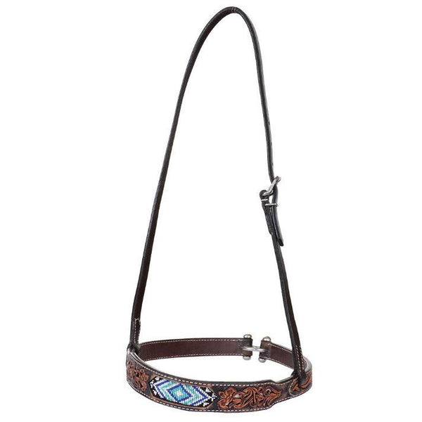 Noseband, Beaded Southwest Distressed Filigree