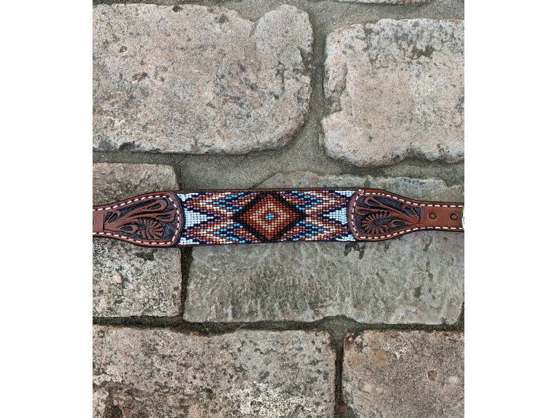 Wither Strap, Beaded Aztec Brown