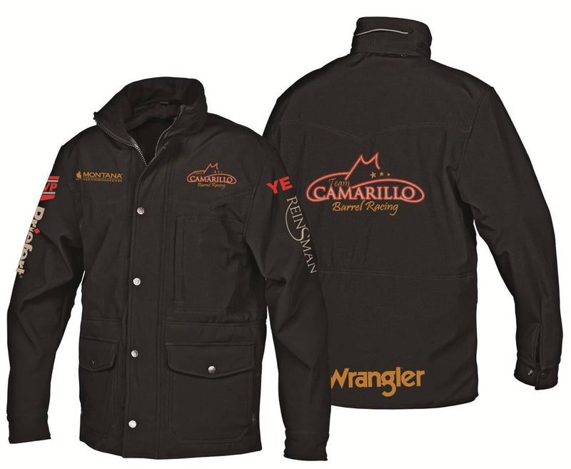 Black Soft Shell Jacket with logos