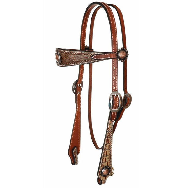 8169Q Copper Berry Headstall