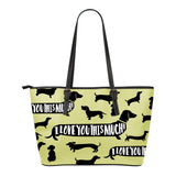 Dachshund I Love You This Much Small Tote Bag