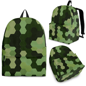 Black and Green Camouflage Backpack