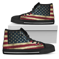 USA Flag Men's High Top Sneaker