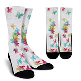 Butterfly Memories Crew Socks