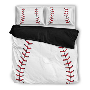 Baseball Bedding Set Black