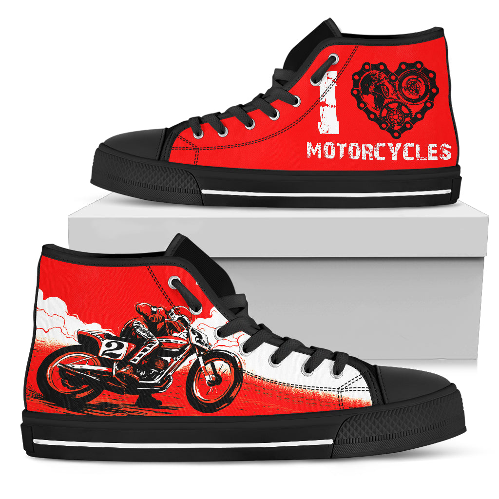 I Love Motorcycles Men's High Top Sneaker