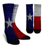 Texas Flag Crew Socks