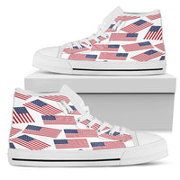 American Pride Men's High Top Sneaker (white bg)