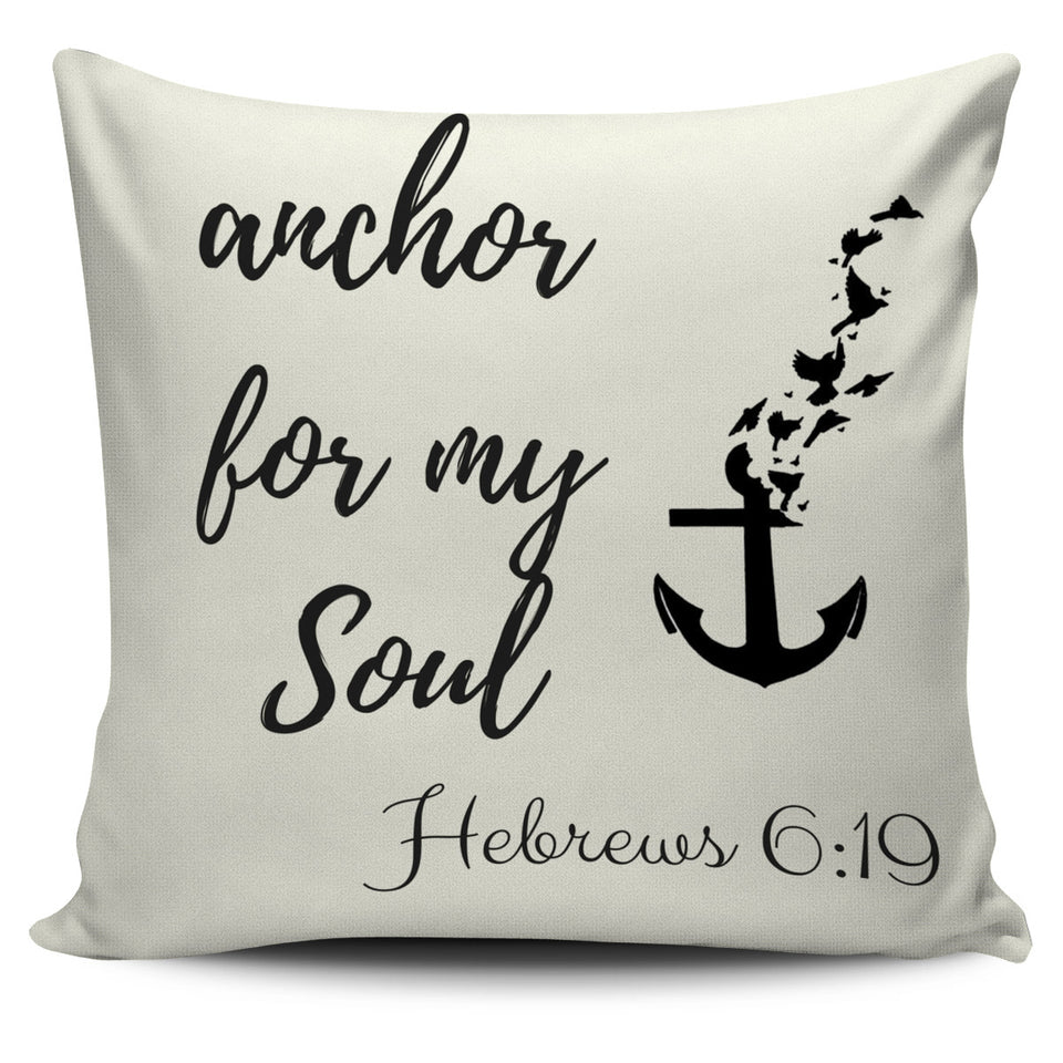 Anchor For My Soul Cream Pillow Cover