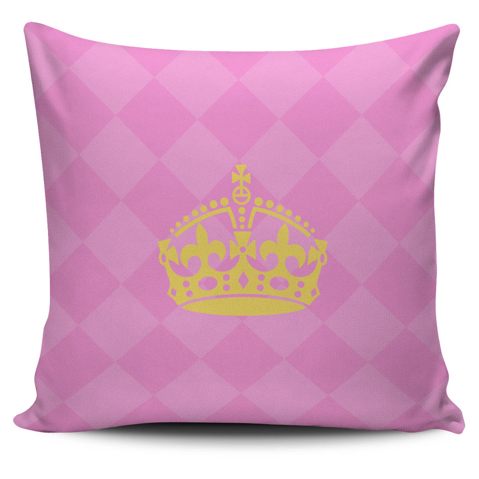 Pink Queen Pillow Covers