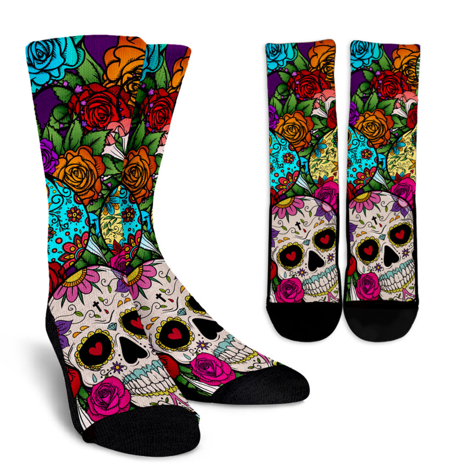 Sugar Skull Crew Socks