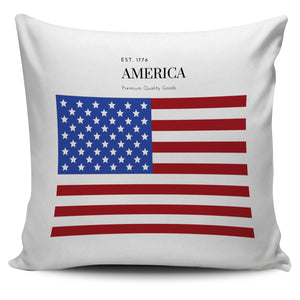 White America Pillow Cover