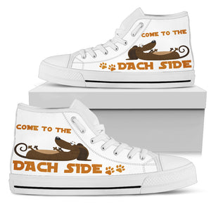 Dachshund Come To The Dach Side Men's High Top Sneaker
