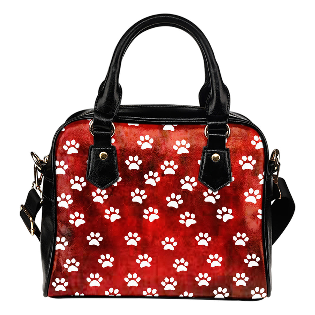 Paw Prints Shoulder Handbag