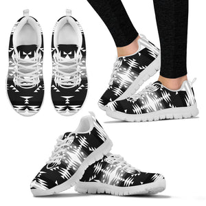 Between the Mountains Black and White Sopo Women's Sneaker