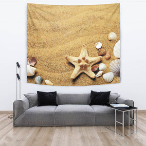 Watercolor Beach Tapestry