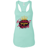 Queens Are Born In March Ideal Racerback Tank